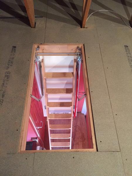 timber loft hatch and ladder midlands lofts. Black Bedroom Furniture Sets. Home Design Ideas